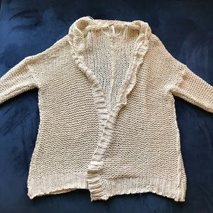 FREE PEOPLE THICK KNIT CHUNKY CARDIGAN SWEATER